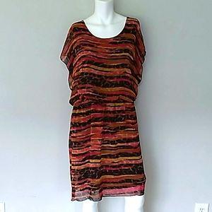 Enfocus Women's Multi-color Chevron Dress